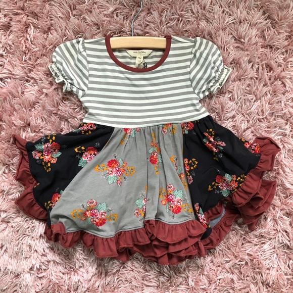 Matilda Jane Girls Work of Heart Dress Sz 2 NWOT